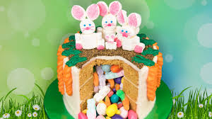 Easter Decorated Carrot Cake by Easter Candy Pinata Cake From Cookies Cupcakes And Cardio Youtube
