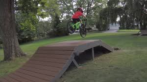 backyard mountain bike jump trail julian 5 years old youtube