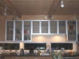 kitchen design modern aluminum and frosted glass kitchen cabinet