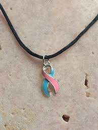 ribbon necklace images Infant miscarriage awareness ribbon necklace jpg