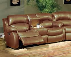 Sofa Recliner Mechanism by Brown Bonded Leather Sectional W Recliner Mechanism