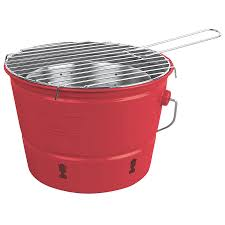 shop coleman 82 sq in red portable charcoal grill at lowes com