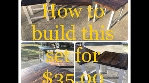 diy how to build rustic style end table coffee table set for