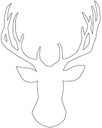 extremely creative deer head coloring pages 14 clip art deer head