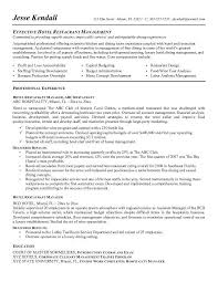 Restaurant Manager Resume Samples by Restaurant Manager Resume Objective Template Billybullock Us