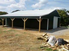 Setting Pole Barn Posts How To Build An Inexpensive Pole Barn Diy Barn Farming And