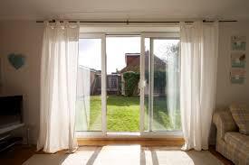 Sliding Door Curtain Ideas White Popular Sliding Glass Door Curtain Ideas Simple Treatment