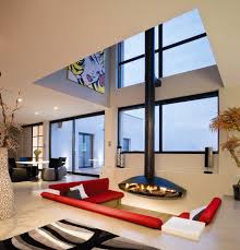 cool sheepskin rug in living room contemporary with brown sofa