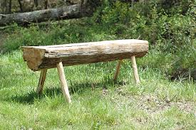 Rustic Log Benches - honeysuckle lane country living and making do part 1