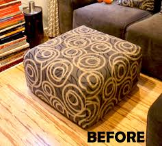 Custom Fabric Ottoman by Many Little Things Make Me Happy Custom Ottoman Slipcover