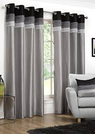 Silver Black Curtains Seattle Black Eyelet Curtains