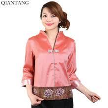 blouse wanita klasik satin blus beli murah klasik satin blus lots from china