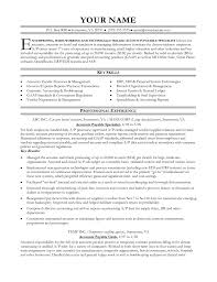 Resume Samples For Accounting by Accounts Payable Resume Examples Http Www Jobresume Website