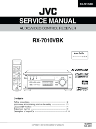service manual jvc rx 7010vbk digital electronics electrical