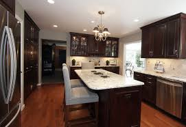 Dark Cabinets With Light Floors Dark Cabinets Light Granite Houzz