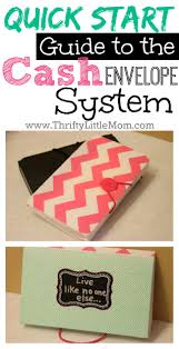 Template For Budgeting Money Quick Start Guide To The Cash Envelope System Thrifty Little Mom