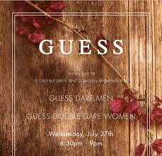 guess dare fragrance party la guestlist