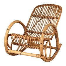 Rocker Chair Franco Albini Style Mid Century Rattan Rocking Chair For Sale At