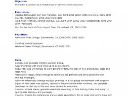 Medical Receptionist Resume Examples by Medical Receptionist Resume Sample No Experience Best Legal