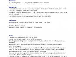 Sample Medical Receptionist Resume by Medical Receptionist Resume Sample No Experience Best Legal