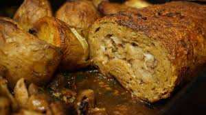 seitan roast with bread elephantastic vegan