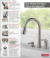 My Kitchen Faucet Is Leaking by Delta Kate Single Handle Pull Down Sprayer Kitchen Faucet With