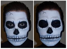halloween skull face paint makeup tutorial skeleton face paint