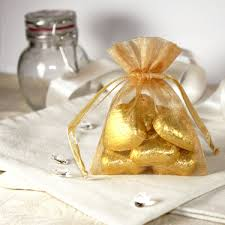 gold favor bags gold organza favour bags pack of 10