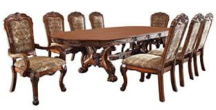 9pc dining room set amazon com 247shopathome idf 3557t 9pc dining room sets brown