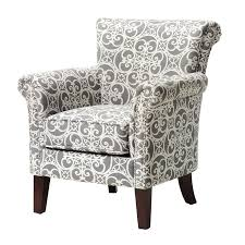 Upholstered Accent Chair Alcott Hill Olson Accent Club Chair With Arms Upholstered Silver