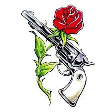 gun and rose tattoo here my tattoo