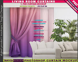 Long Living Room Curtains Long Curtains Etsy