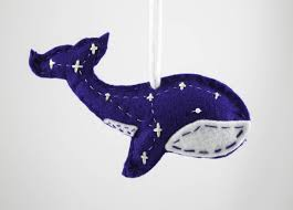 made whale constellation ornament tree