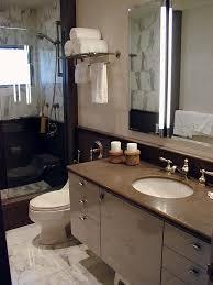 Bathroom Wall Cabinet With Towel Bar by Hotel Towel Rack In Bathroom Mediterranean With Wallpaper Silver