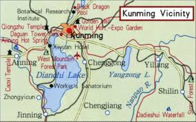 Kunming China Map by The Forgotten War Frank Vierling China Burma India Theater Of