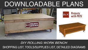 rolling work table plans diy rolling workbench with free workbench plans