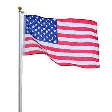 Flag Pole Express Yeshom 20ft Sectional Flag Aluminum Pole Kit 3 U0027x5 U0027 Us Flag