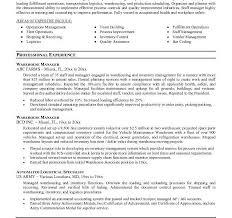 warehouse resume objectives 107 warehouse resume objectives