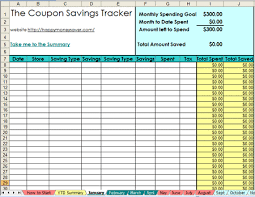 Track My Spending Spreadsheet by 2013 Coupon Savings Tracker Spreadsheet Saver