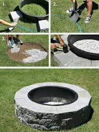 Building A Firepit In Backyard Diy Firepit Home Sweet Home Pinterest Backyard Yards And