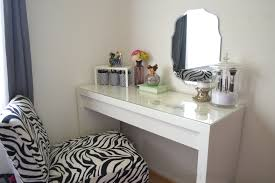 Glass Vanity Table With Mirror Furniture White Wooden Dressing Table With Four Claw Legs And