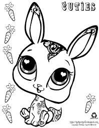 cuties rabbit kleurplaten coloring sheets