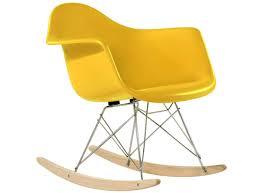 eames rar rocking chair fiberglass platinum replica