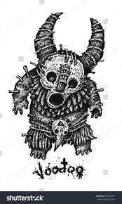 voodoo dolls shamans toy graphic illustration stock illustration