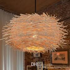 Woven Pendant Light Creative Nest Light Rattan Woven Pendant Light Retro Pendant L