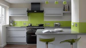 black appliances wood bench white cabinets green walls google