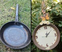 Reuse An Old Iron Skillet Turn It Into A Beautiful Garden Clock