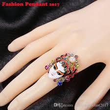 asian rabbit ring holder images Vintage chinese style traditional peking opera rhinestone rings jpg