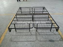 charming bi fold box spring with highrise folding metal bed frame