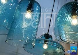 subtle teal pendants with delicate detailing at the ihgf delhi